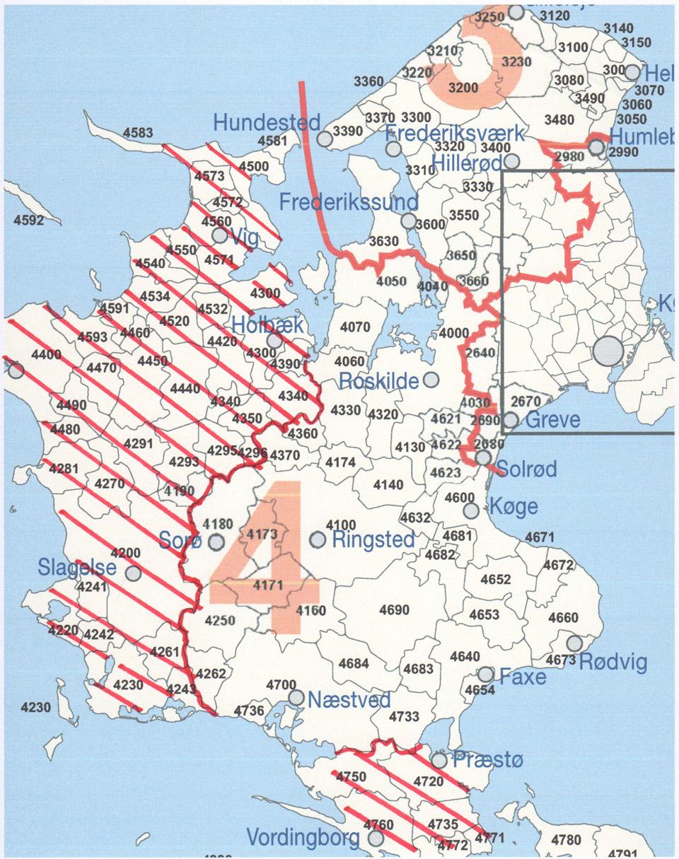 Se kortet over hvor vi reparerer hvidevarer på Sjælland